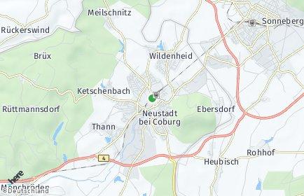Stadtplan Neustadt bei Coburg