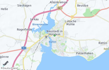 Stadtplan Neustadt in Holstein