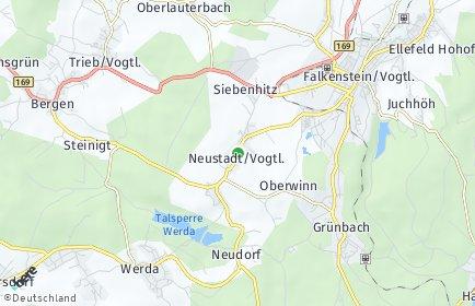 Stadtplan Neustadt (Vogtland)