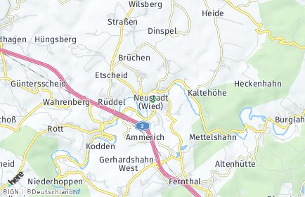 Stadtplan Neustadt (Wied)