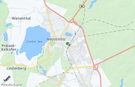 Stadtplan Neustrelitz