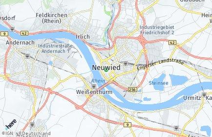 Stadtplan Neuwied
