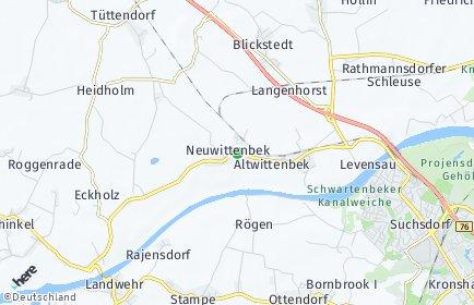 Stadtplan Neuwittenbek