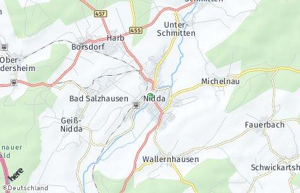 Stadtplan Nidda
