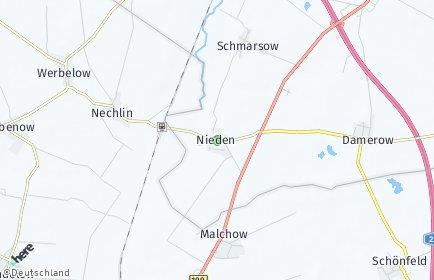 Stadtplan Nieden
