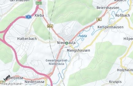 Stadtplan Niederaula