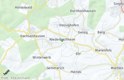Stadtplan Niederbachheim