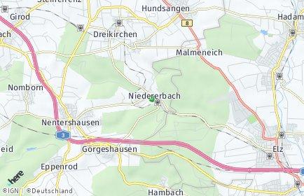 Stadtplan Niedererbach