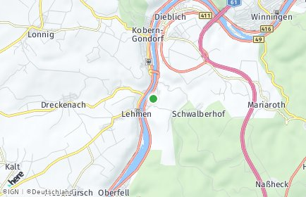 Stadtplan Niederfell