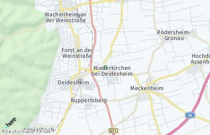 Stadtplan Niederkirchen bei Deidesheim