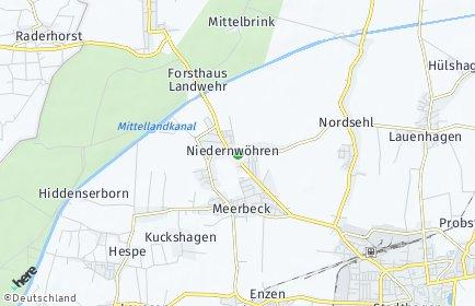 Stadtplan Niedernwöhren