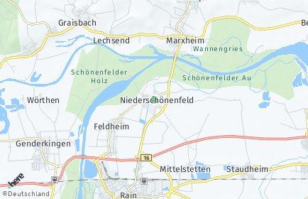 Stadtplan Niederschönenfeld