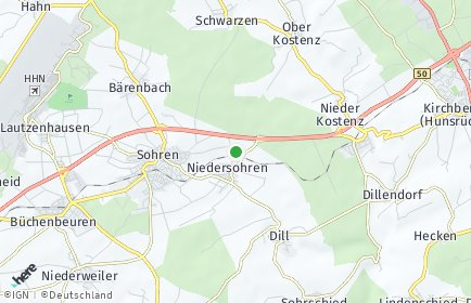 Stadtplan Niedersohren