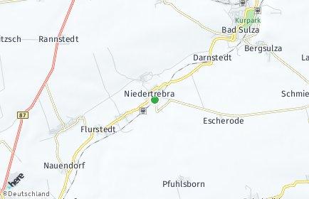 Stadtplan Niedertrebra