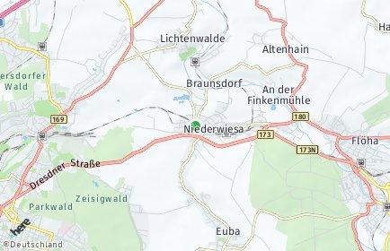 Stadtplan Niederwiesa