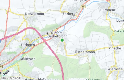 Stadtplan Niefern-Öschelbronn