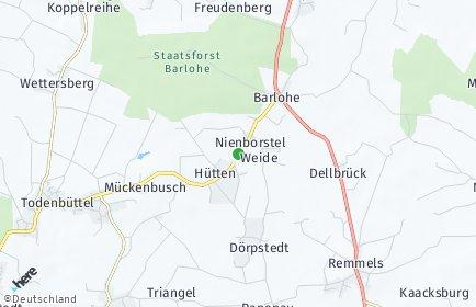 Stadtplan Nienborstel