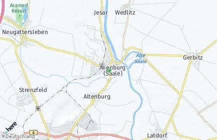 Stadtplan Nienburg (Saale)