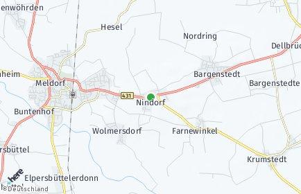 Stadtplan Nindorf bei Meldorf