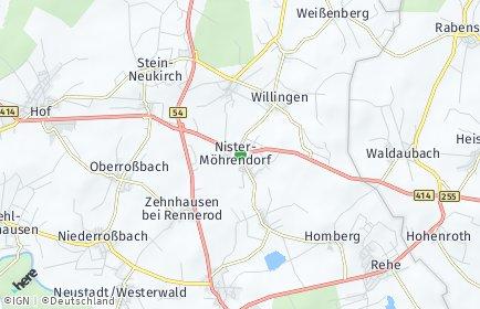 Stadtplan Nister-Möhrendorf