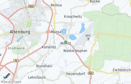 Stadtplan Nobitz