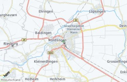 Stadtplan Nördlingen OT Nördlingen
