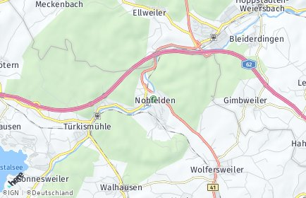 Stadtplan Nohfelden