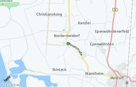 Stadtplan Nordermeldorf OT Christianskoog