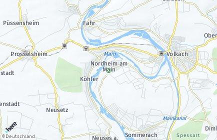 Stadtplan Nordheim am Main