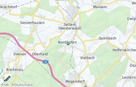 Stadtplan Nordhofen