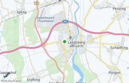 Stadtplan Landsberg am Lech