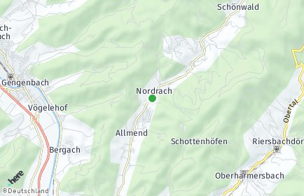 Stadtplan Nordrach