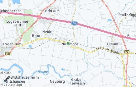 Stadtplan Nortmoor