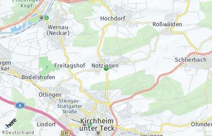 Stadtplan Notzingen OT Wellingen