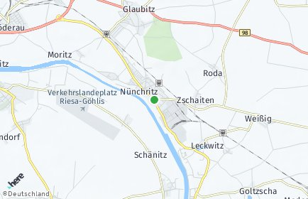 Stadtplan Nünchritz
