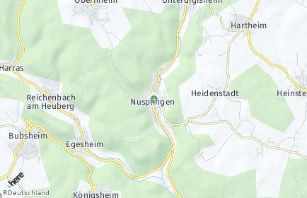 Stadtplan Nusplingen