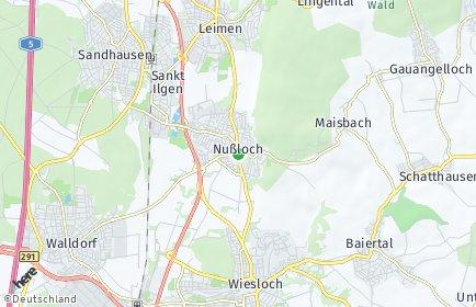 Stadtplan Nußloch