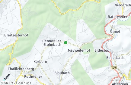 Stadtplan Oberalben