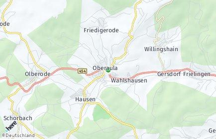 Stadtplan Oberaula