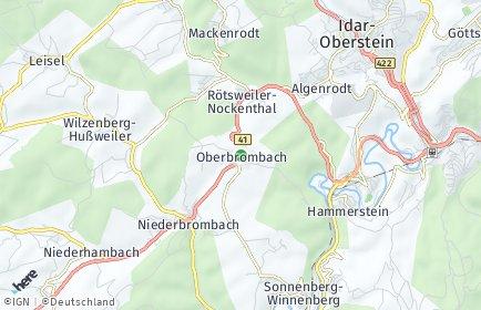 Stadtplan Oberbrombach