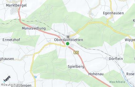 Stadtplan Oberdachstetten