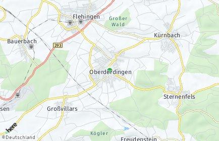 Stadtplan Oberderdingen