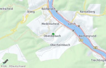 Stadtplan Oberdiebach