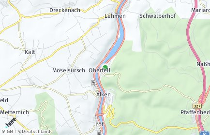 Stadtplan Oberfell