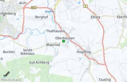 Stadtplan Oberhausen bei Peißenberg