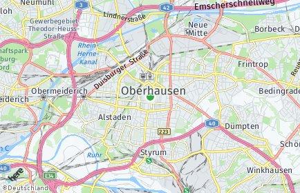 Stadtplan Oberhausen
