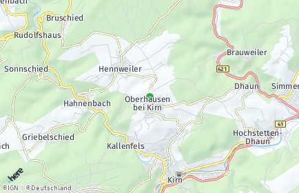 Stadtplan Oberhausen bei Kirn