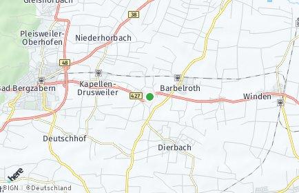 Stadtplan Oberhausen bei Bad Bergzabern