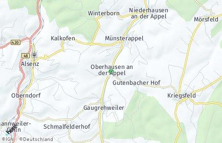 Stadtplan Oberhausen an der Appel