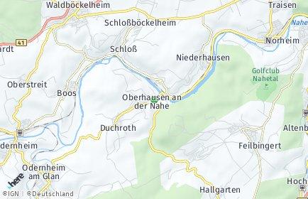 Stadtplan Oberhausen an der Nahe